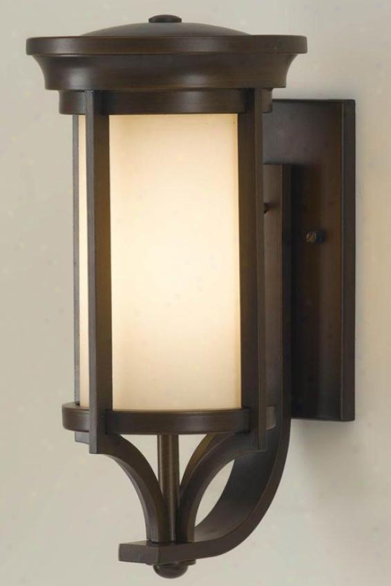 """martin Outdoor aWll Lantern - 15.25""""h X 7.5""""w, Heritage Bronze"""