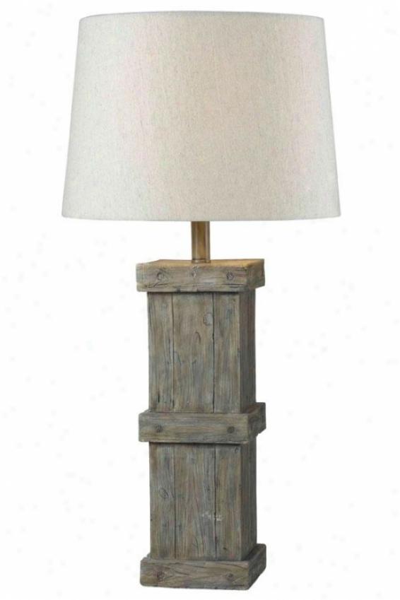"""""""martin Tabl3 Lamp - 31""""""""h, Wood Temper"""""""