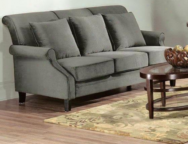 """martine Sofa - 38""""hx81""""w, Solid Vlvt Gray"""