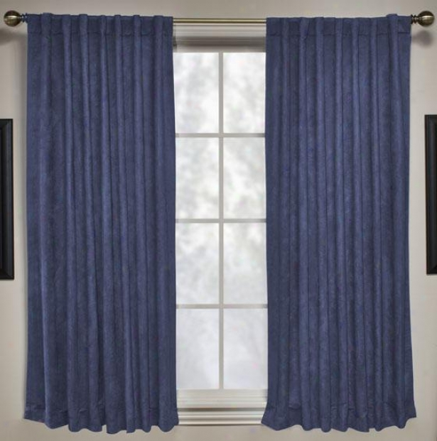 """mason Blackout Drapery Panel - 63""""hx56""""w, Navy Blue"""