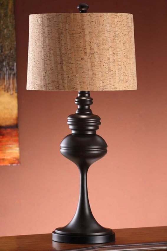 """mason Table Lamp In Coffee Finish - 32.5""""h, Coffee Brown"""