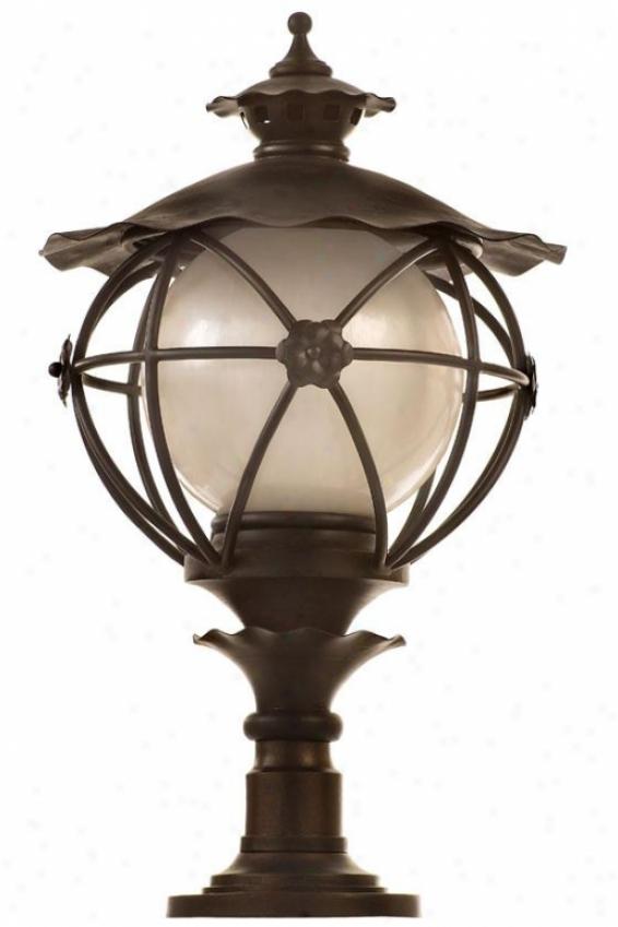 """matador Outdoor Post Lantern - 26.5""""h X 16""""w, Outdoor Bronze"""