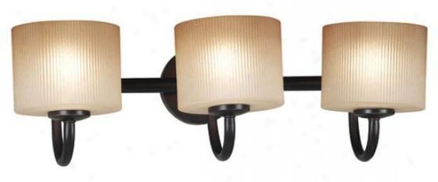 Matrielle 3-light Vanity Light - Three-light, Copper Bronze