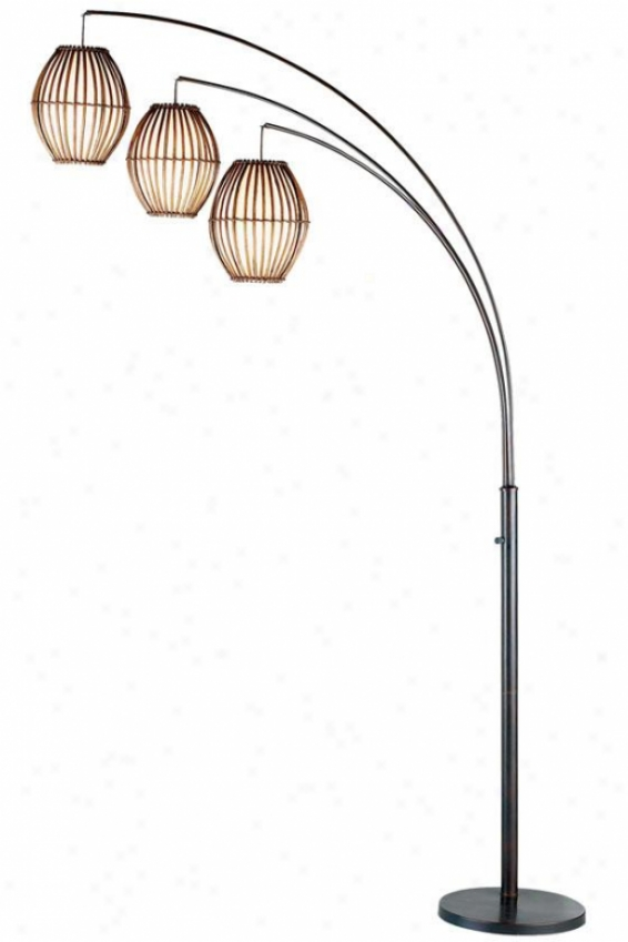 Maui Arc Floor Lamp - 82hx12.5wx45d, Bronze