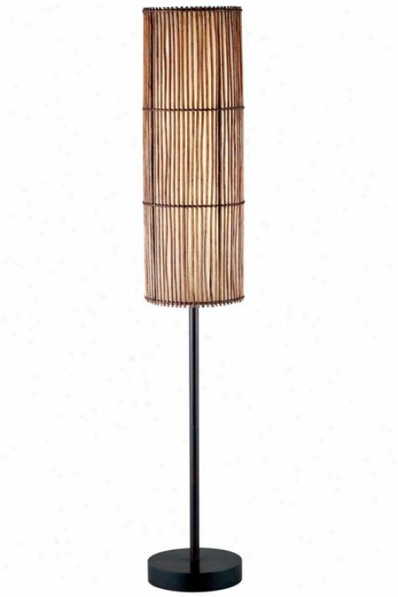 Maui Floor Lamp - 60hx10wx10d, Bronze