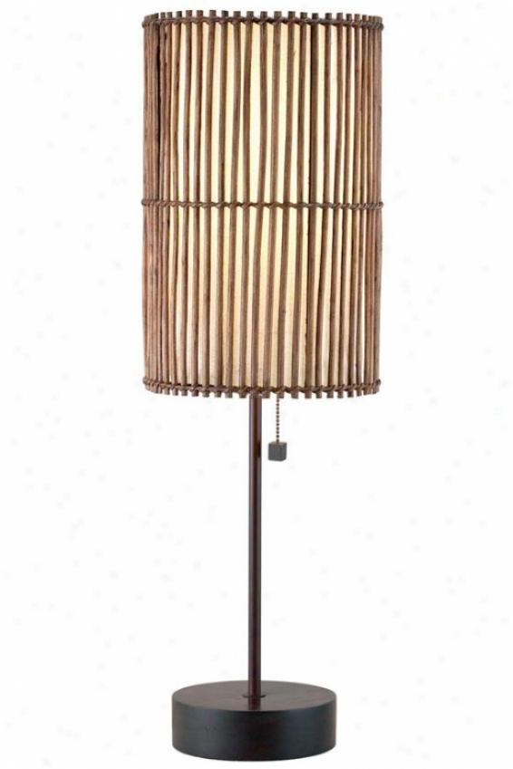 Maui Table Lamp - 28.5hx9wx9d, Bronze