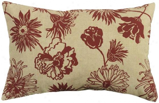"""maystone 19"""" Wide Outdoor Pillow - 19""""rect Mayston , Red"""
