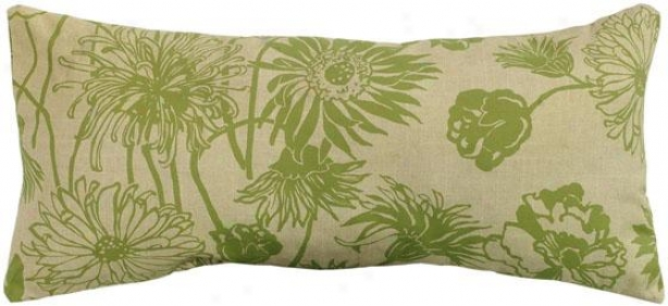 """maystone 22"""" Wide Outdoor Pillow - 22"""" Rect Maysto, Green"""