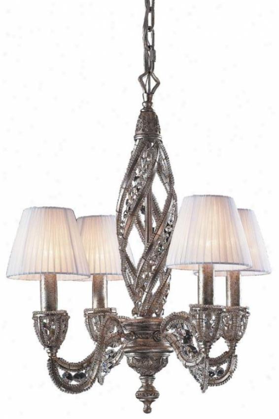 Medici 4-light Chandelier - 4-light, Sunset Silver
