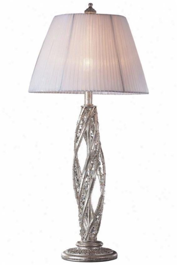 """medici Table Lamp - 32""""hx15""""w, Sunset Silver"""