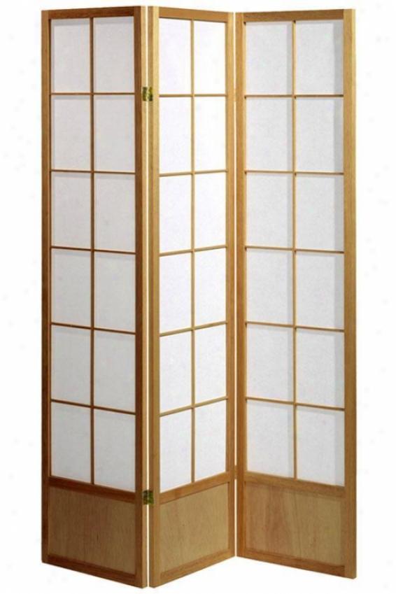 """""""meditation 71""""""""h Three-panel Shoji Room Divider - 3-panel, Tan"""""""