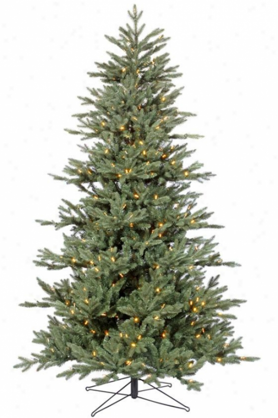 """medium Blue Noble Led Tree - 78""""hx51""w, White"""