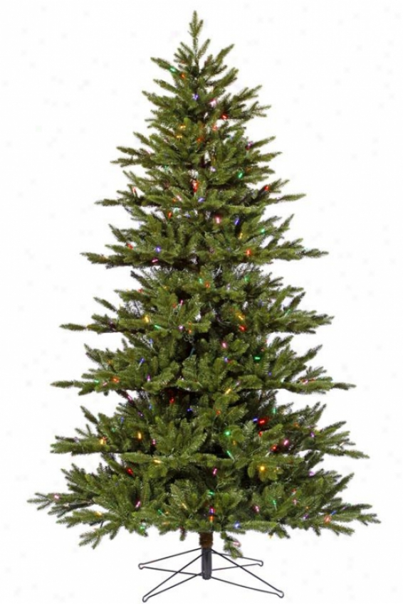 """medium Noble Led Fir Tree - 90""""hx55""""w, Multi"""