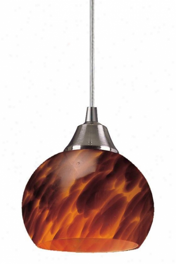 """mela 1-light Pendant - 6""""x6"""", Coffee Brown"""