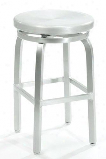 Melanie Swivel Counter Stool - Swivel, Aluminum