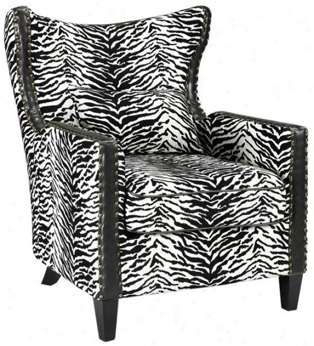 """meloni Arm Chair - 36.5""""hx34""""w, Black & White"""