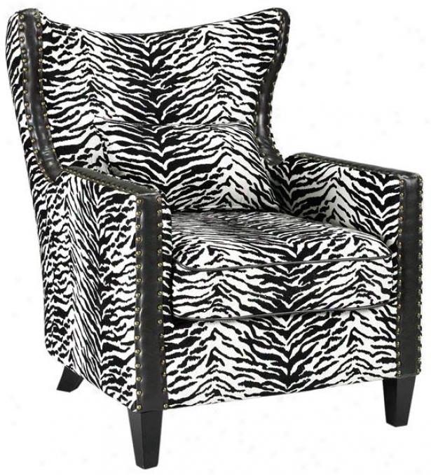 """""""meloni Arm Chair - 36.5""""""""hx34""""""""w, Black & White"""""""
