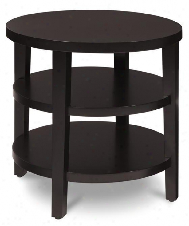 """merge Round Side End Table - 22""""hx20""""d, Coffee Brown"""