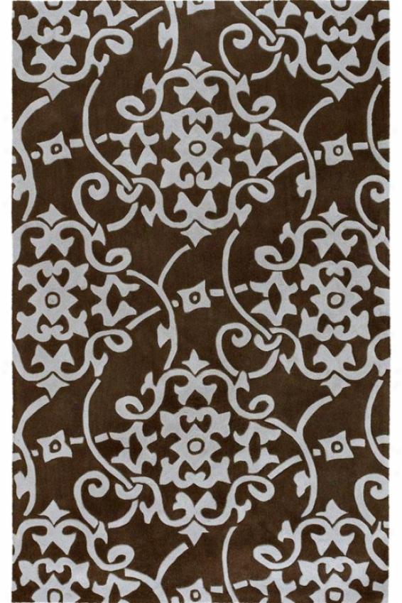 Merit Ii Area Rug - 2x3, Chocolate Brown