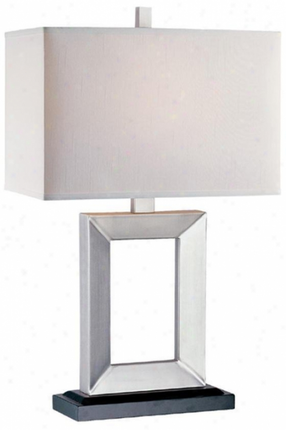 """mervin Table Lamp  -29""""hx17""""w, Silver"""