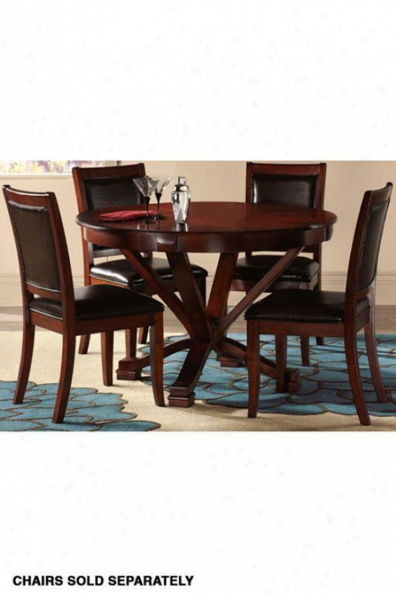 """metro Dining Table - 48""""wx48""""d, Brick Red"""