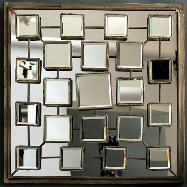 """metropolitan 22 Faces Pattern - 25""""square X 4""""d, Gold"""