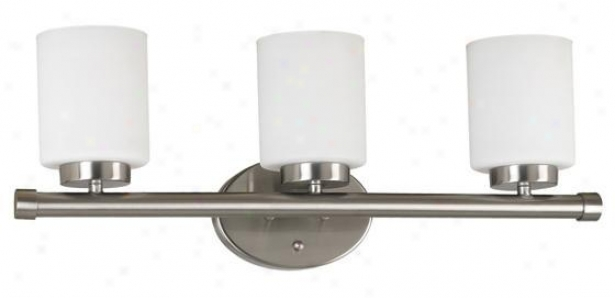 Mezzanine 3-light Vanity Light - Three-ligjt, Grey Steel