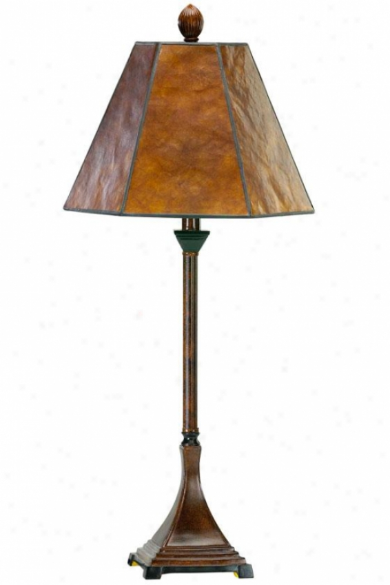 """mica 28.5""""w Buffet Lamp - 13""""h, Brn Finish/mica"""