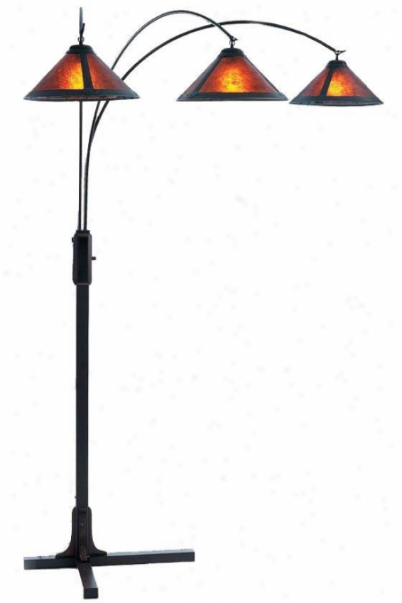 """mica 3-light Arc Floor Lamp - 87""""h, Bronze"""