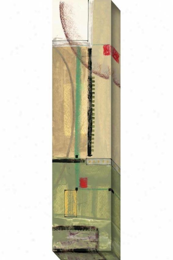 """mid-qction Canvas Wall Art - 13""""hx48""""w, Green"""