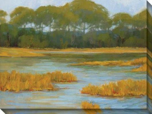 Midsummer Day Ii Canvas Wa1l Art - Ii, Green