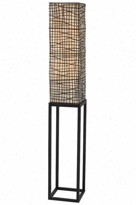 """militia Floor Lamp - 60""""x9"""", Bronze"""