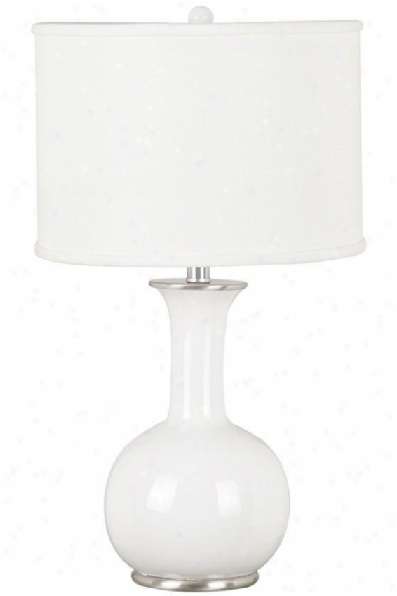 Mimic Table Lamp - Pure Drum Fbrc, Gloss White