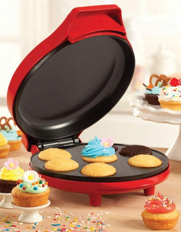 """mini Cupcake Author - 5""""hx9""""wx11.5""""d, Red"""