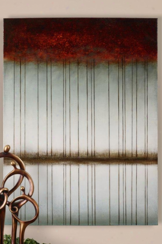 """""""Pattern Image Wall Art - 48"""" """"hx36""""""""w, Burgundy"""""""