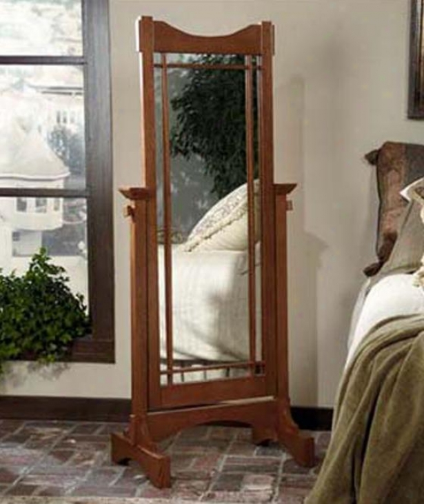 """mission Cheval Mirror - 60""""hx25.5""""w, Tan"""