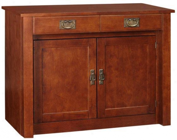 """mission Expanding Cabinet - 31""""h, Fruitwood"""