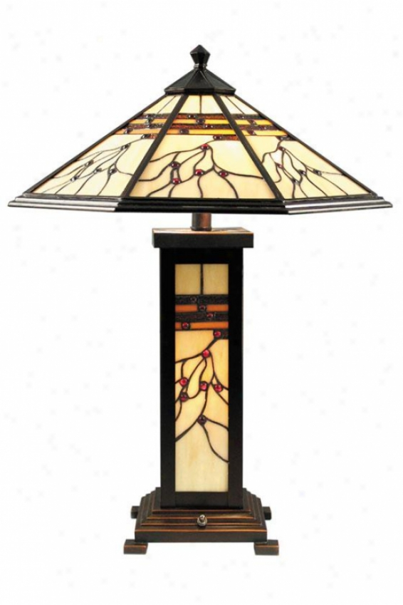 """""""mission Hills Table Lamp - 25h X 18""""""""d, Antq Goldn Sand"""""""