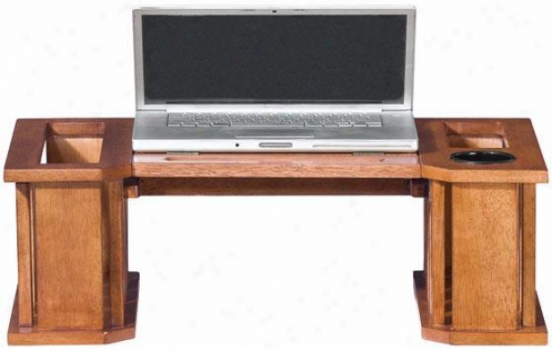 """mission-style 26""""w Laptop Desk - 26""""w, Red"""