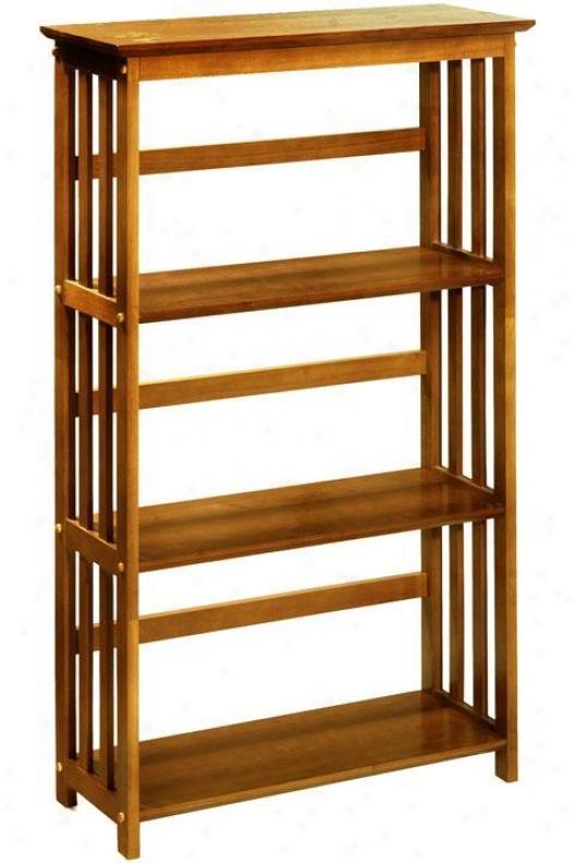 """""""mission-style 29""""""""w 3-shelf Bookshelf - Three-shelf, Beige"""""""
