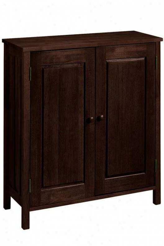 """mizsion-style 33""""w Shoe Storage With Doors - 33""""w W/o Drawer, Brown"""