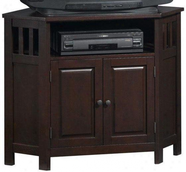 Mission-style Corner Tv Stand - Corner, Brown