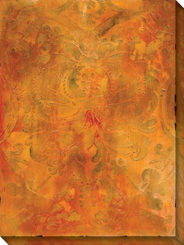 Modal I Canvas Wall Art - I/orange, Multi