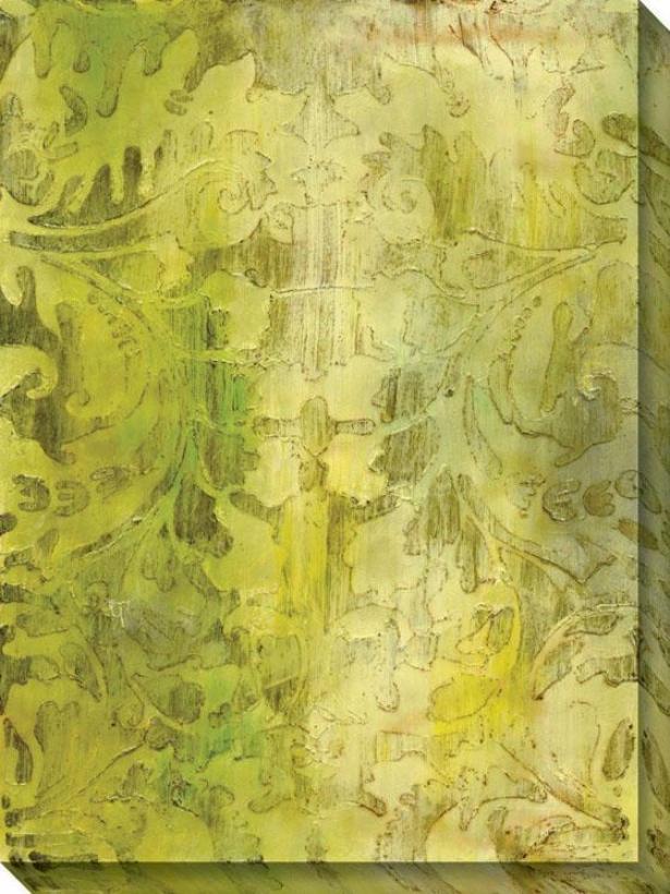 Modal Vi Canvas Wall Art - Vi/green, Multi