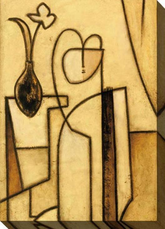 """""""modern Figure Canvas Wall Art - 35""""""""hx48""""""""w, Yellow"""""""