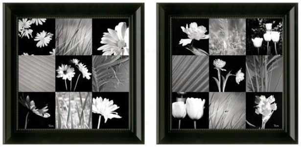 Modern Interpretation Framed Wall Art - Set Of 2 - Set Of Two, Black