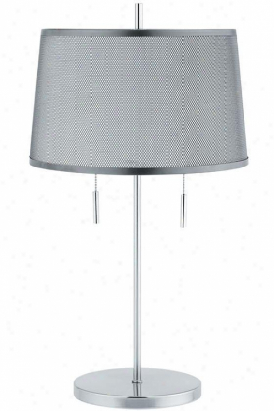 Modish 2-light Table Lamp - 2-light, Silver