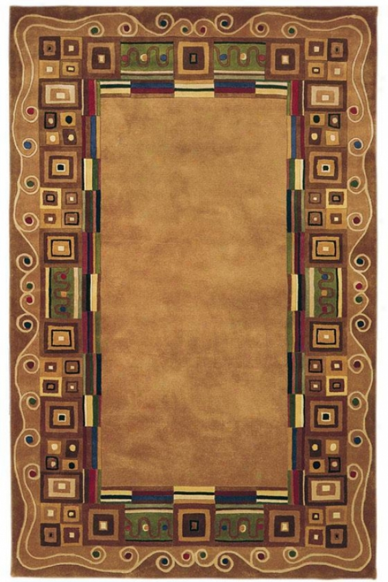 """komeni Arista Area Rug - 3'6""""x5'6"""", Gold"""