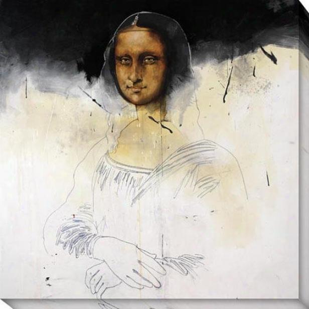 """""""mona Black Canvas Wall Art - 40""""""""hx40""""""""w, Murky"""""""