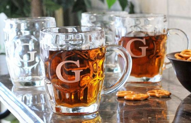 Monogram Beer Tankard - Set Of 4 - 18.5 Oz/set 4, Y